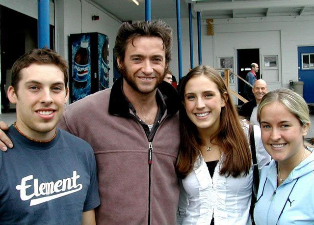 Professor X Photobombs Wolverine and fans. Hashtag Epic