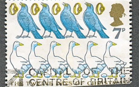 Calling Birds Stamp 1977
