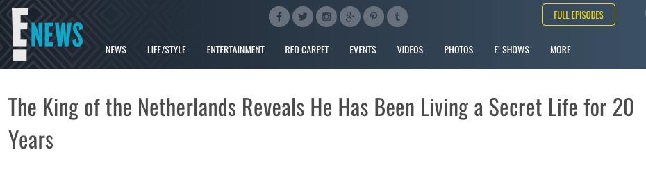 Headline for KLM blog